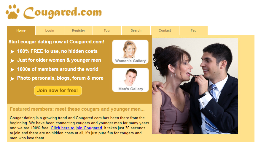 Cougared dating site review