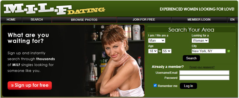 MilfDating site review