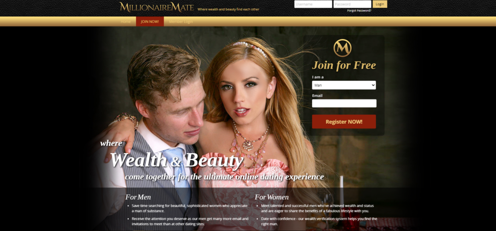 MillionaireMate.com dating site for rich women